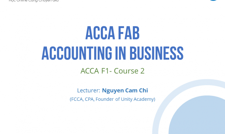 ACCA FAB - Accounting In Business (ACCA F1- Course 2)