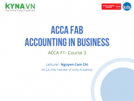 ACCA FAB - Accounting In Business (ACCA F1- Course 3)