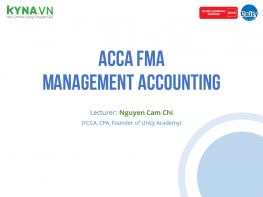 ACCA FMA - Management Accounting (ACCA F2)
